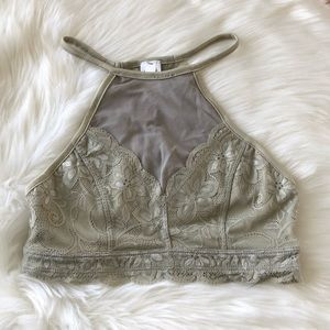 Tops - SEXY LACE SAGE BRALETTE